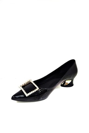 Heels Siyah Kadın Kısa Topuklu Stiletto 0