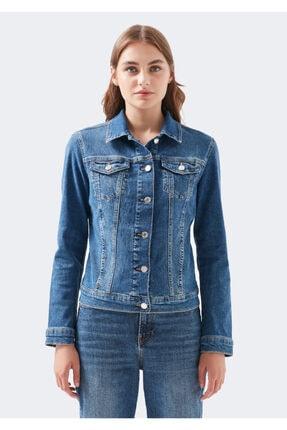 Mavi Kadın Daisy 90 s Zımparalı  Jean Ceket 1113632061 2