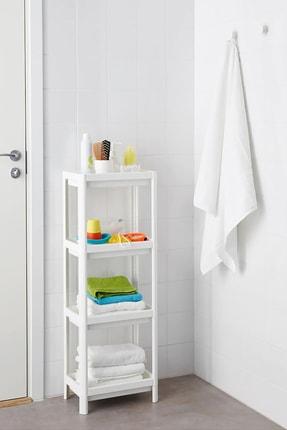 Pazarika Vesken 3 Bölmeli Banyo Raf Ünitesi Beyaz 0