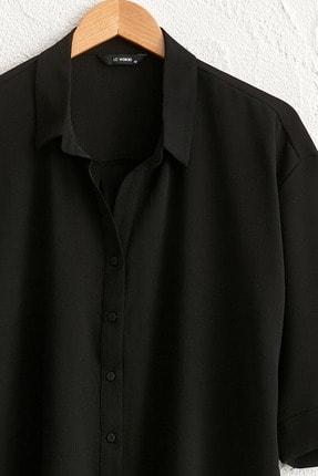 LC Waikiki Kadın Siyah Gömlek 0WDK71Z8 1