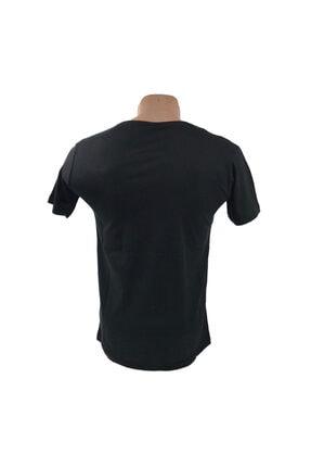 Pazarowic Erkek Siyah V Yaka Likralı Tshirt 1