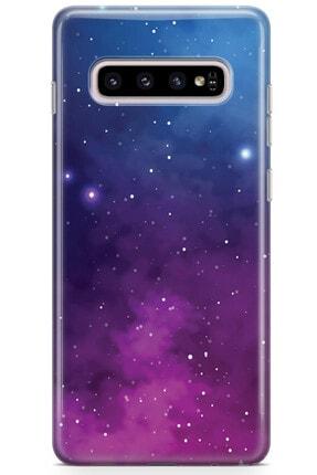 Zipax Samsung Galaxy A91 Kılıf Galaksi Desenli Baskılı Silikon Mel-109517 2