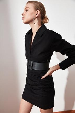 TRENDYOLMİLLA Siyah Yaka Detaylı Elbise TWOAW21EL1388 3