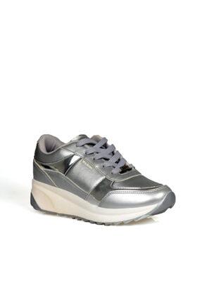 Wickers Kadın Gümüş Bağcıklı Spor Ayakkabı 1