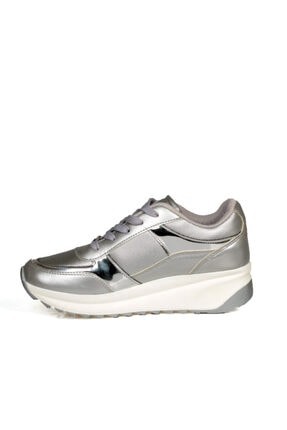 Wickers Kadın Gümüş Bağcıklı Spor Ayakkabı 2
