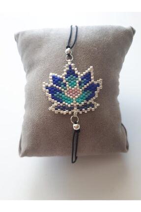 boncuktanseyler Miyuki Lotus Çiçeği El Yapımı Mavi Boncuk Bileklik 0