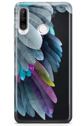 Zipax Huawei Nova 5t Kuş ve Tavşan Desenli Baskılı Silikon Kılıf - Mel-109543 3