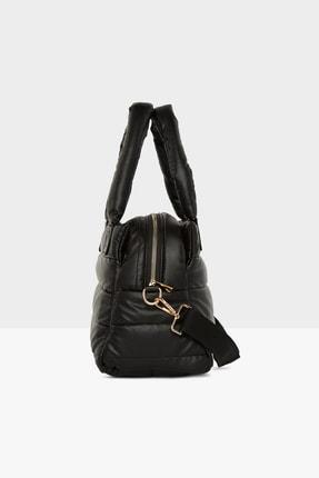 Bagmori Kadın Siyah Üç Bölmeli Şişme Çanta M000005141 2