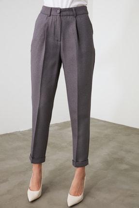 TRENDYOLMİLLA Gri Basic Pantolon TWOAW21PL0146 3