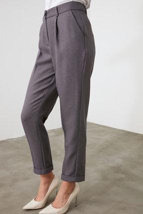 TRENDYOLMİLLA Gri Basic Pantolon TWOAW21PL0146 4