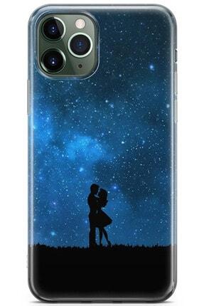 Zipax Samsung Galaxy M11 Kılıf Gece Ve Yarasa Desenli Baskılı Silikon Mel-109518 0