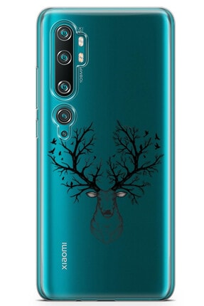 Zipax Samsung Galaxy A21s Kılıf Geyik Ve Orman Desenli Baskılı Silikon Kılıf 2