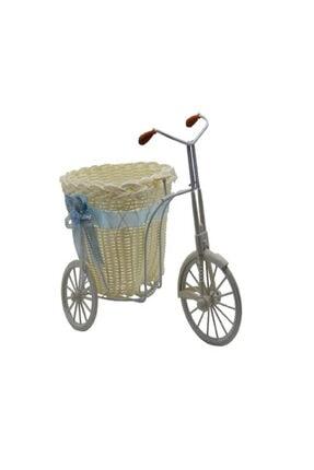 DENİZ Bebek Şekeri Için Pembe Hasır Sepetli Bisiklet 30x28x15 cm 0