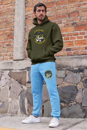 Angemiel Erkek Yeşil Mavi Eşofman Takımı 0