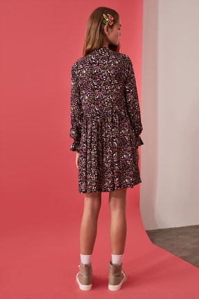 TRENDYOLMİLLA Çok Renkli Desenli Elbise TWOAW21EL0610 4