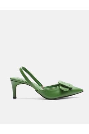 Jorbinol Kadın Yeşil Topuklu Ayakkabı 1