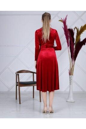Apple Cix Ithal Kadife Elbise (kemerli) 2