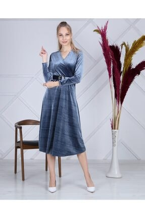 Apple Cix Ithal Kadife Elbise (kemerli) 1