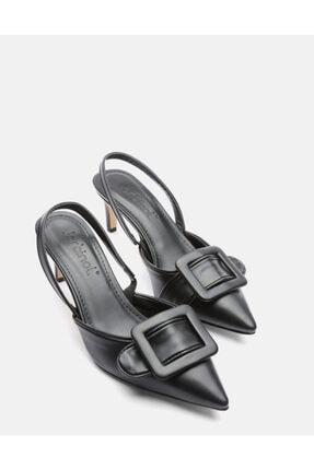 Jorbinol Kadın Siyah Masha Topuklu Ayakkabı 0