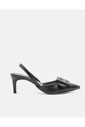 Jorbinol Kadın Siyah Masha Topuklu Ayakkabı 1