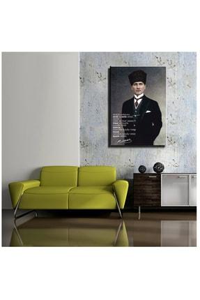 mağazacım Atatürk Takım Elbiseli Portre (70x100 Cm) Kanvas Tablo Tbl1194 1