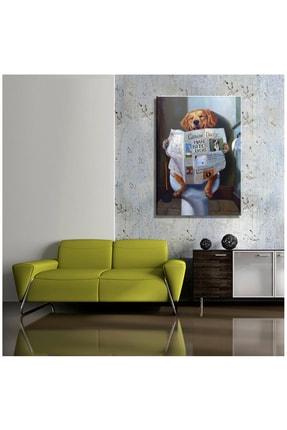 mağazacım Lucia Heffernan Gazete Okuyan Köpek Yağlı Boya Reprodüksiyon (70x100 Cm) Kanvas Tablo Tbl1127 1