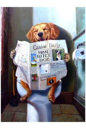 mağazacım Lucia Heffernan Gazete Okuyan Köpek Yağlı Boya Reprodüksiyon (70x100 Cm) Kanvas Tablo Tbl1127 2