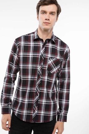 Defacto Erkek Kareli Tek Cep Gömlek I9206AZ.18AU.BK27 0