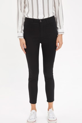 Defacto Kadın Siyah Anna Super Skinny Dokuma Pantolon M2223AZ.20SM.BK27 1