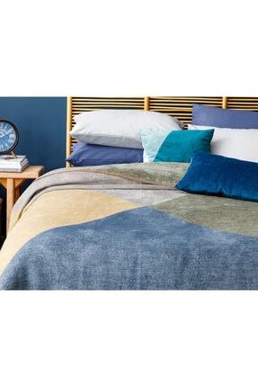 English Home Creative Pamuklu Çift Kişilik Battaniye 200x220 Cm Lacivert 1