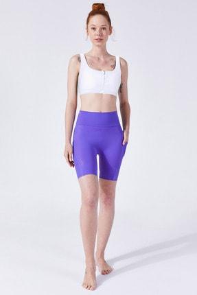 VAYU Kadın Beyaz Athena Fermuarlı Yoga ve Pilates Sporcu Sütyeni 3