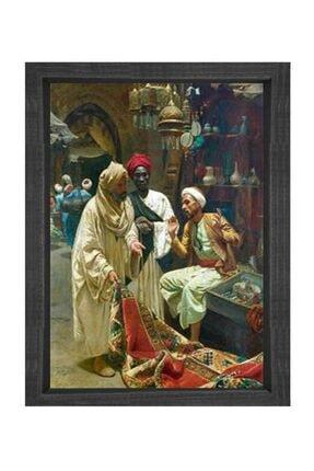 Deniz Çerçeve & Tuval Osmanlı Dönemi Pazar Tablosu Siyah Ahşap Çerçeve-100x150 0