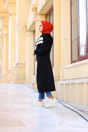 Moylin Kadın Siyah Garnili Uzun Hırka 2