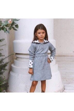 Hilal Akıncı Kids Kolları Leoparlı Triko Etekli Takım 0