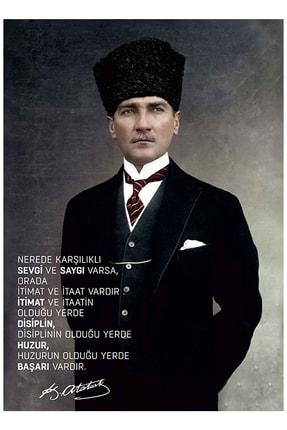 mağazacım Atatürk Takım Elbiseli Portre (60x80 Cm) Kanvas Tablo Tbl1194 2
