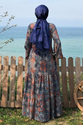 KÜBRA BİRİKTİR Kadın Lacivert Duru Elbise 3