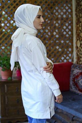 Nirvana Kadın Beyaz Iki Iplik Baskılı Tunik 3