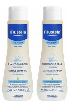 Mustela Gentle Göz Yakmayan Bebek Şampuanı 200 ml 2 adet 0