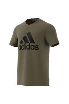 adidas Erkek Haki Baskılı T-shirt 0
