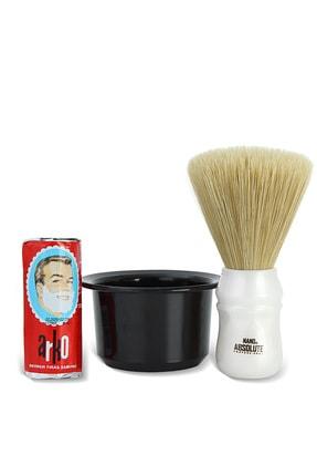 Arko Berber Tıraş Sabunu 75 Gr. + Nano Absolute Ense Fırçası + Tıraş Kasesi Tası 0