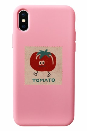 Mupity Tomato Tasarımlı Pudra Lansman Kılıf Iphone X 0