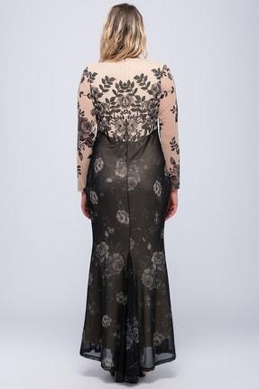 Şans Kadın Bej Şifon Abiye Elbise 65N18257 1