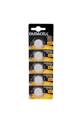 Duracell Düğme Pil 2032 5'li Paket 3 Volt 0
