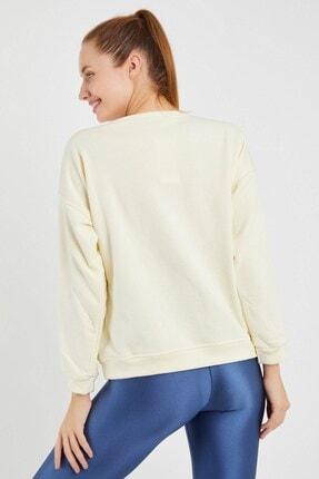 Yukimay Newyork Kadın Ekru Sweatshirt 3