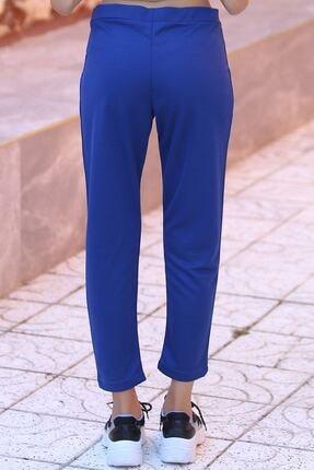 HN TEKSTİL Kadın Gece Mavisi Beli Bağlamalı Pantolon 3
