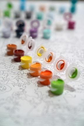 3D Art Sayılarla Boyama Tablo Seti Kanvas Fırça Boya Dahil 45x55 CM - Paris 2