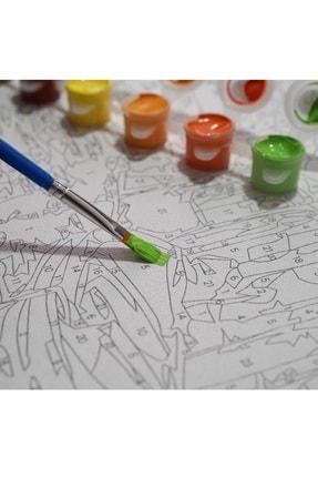 3D Art Sayılarla Boyama Tablo Seti Kanvas Fırça Boya Dahil 45x55 cm - Van Gogh Yıldızlı Gece 4