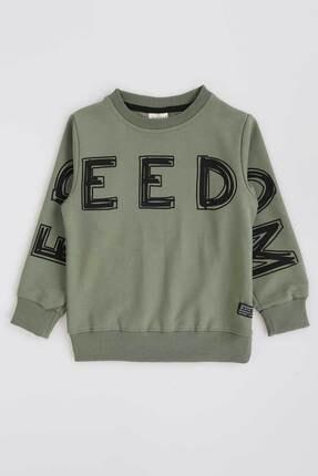 Ahenk Kids Kız Çocuk Haki Baskılı Sweatshirt 0