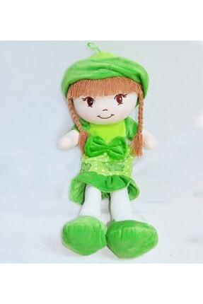 HALLEY Yeşil Oyuncak Bez Bebek Dantel Elbiseli 70 Cm Büyük Boy 0
