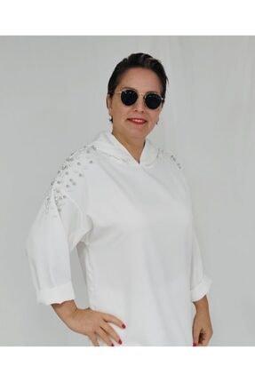 Ketche Kadın Beyaz Incili Pantolon Takım 1